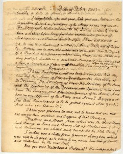 Letter from John Adams to Benjamin Rush, page 1
