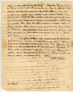 Letter from John Adams to Benjamin Rush, page 2