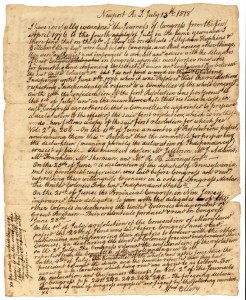 Account of the signing of the Declaration by William Elery