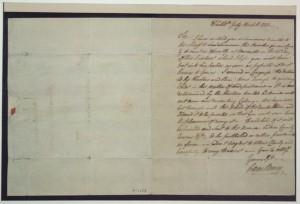 Caesar Rodney's letter to Thomas Rodney