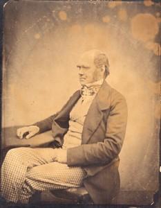Early portrait of Charles Darwin.