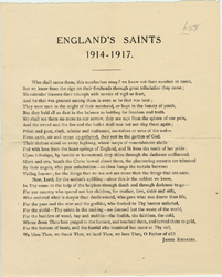 England's Saints (ca. 1918) by James Rhoades