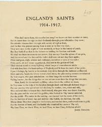 England's Saints (ca. 1918) by James Rhoades